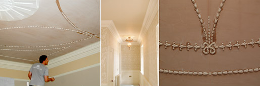 Fixing/Fitting service and supply and fit of plaster mouldings